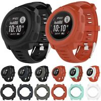 Silicone Watch Frame Case Cover Shell Protector For Garmin Instinct GPS Watch