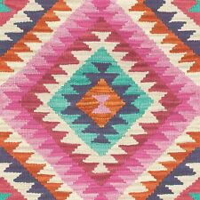 PINK BARBARA HOME KILIM RUG STYLE AZTEC WALLPAPER - RASCH 527445