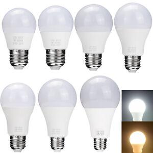 E26 E27 LED Globe Bulb Light 3W 5W 7W 9W 12W 15W 18W Energy Saving White Lamp SS