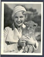 LEILA HYAMS WITH MGM LION CUB - STAR OF BROWNING'S FREAKS - EXCELLENT CONDITION