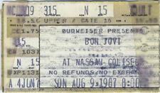 BON JOVI 1987 TOUR Concert Ticket Stub NASSAU