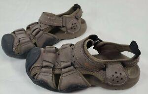 Crocs Swiftwater Leather Fisherman Mens Sandal 204562 Espresso US Size M7