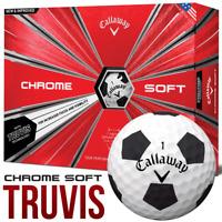Callaway 2018 Chrome Soft Truvis With Graphene Golf Balls Dozen WHITE / BLACK