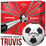 Callaway 2018 Chrome Soft Truvis With Graphene Golf Balls Dozen WHITE / BLACK