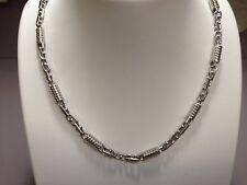 "10kt WHITE Gold Mens Handmade Chain/Necklace 28"" 5MM 53 grams"