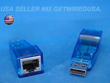 USB MALE TO FEMALE RJ45 ETHERNET CAT5 ADAPTER DRIVER CD AUX CONNECTOR US SELLER
