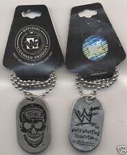 Stone Cold Skull WWF WWE World Wrestling Dog Tag Next Millenium Company B1