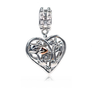 Clogau Silver Charm Tree of Life Heart Welsh Rose Gold 3SLLC321