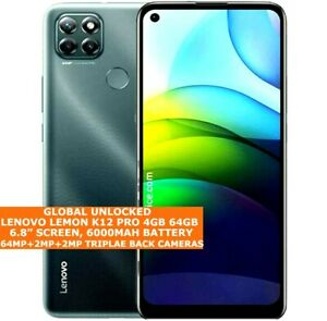 "LENOVO LEMON K12 PRO 4gb 64gb Snapdragon 662 Octa Core 6.8"" Fingerprint Android"