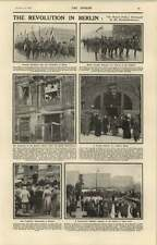 1918 The Revolution In Berlin Palace Damaged Opening Of Peace Conference