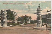 St. Louis Mo Hawthorne & Longfellow Place Postcard 1913