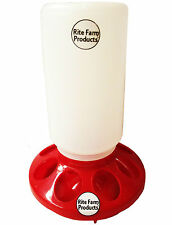 RED RITE FARM PRODUCTS FEEDER BASE & POLY QUART JAR POULTRY CHICKEN CHICK