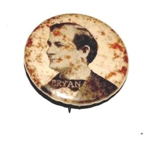 1900 WILLIAM JENNINGS BRYAN CAPORAL CIGS campaign pin pinback button political