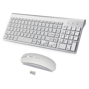 Wireless Keyboard and Mouse Combo,Ultra Slim with Mute Whispe-Quiet Keys for Mac