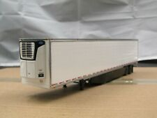 dcp white/black tandem axle reefer trailer new no box 1/64.