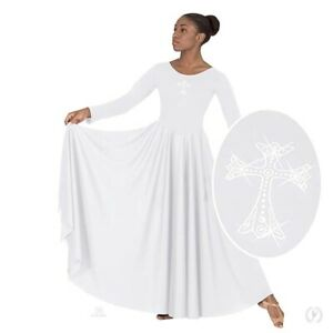 Rhine Stone Cross Praise Dance Dress