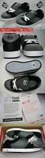 New Mens 7 Etnies és ES Accel Black Gray Leather Skateboard Shoes