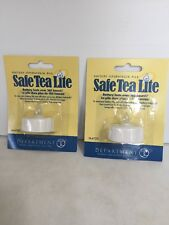 Dept 56 Safe Tea Lite Candle Set Of 2 ~New