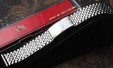 Beads Monaco links 1960s/70s steel NSA bracelet 19mm band NOS Swiss 4 sold here