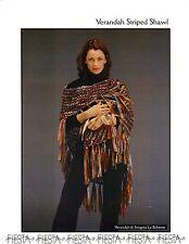Veranda Striped Shawl - Fiesta Knitting Pattern - Quick & Easy Knit