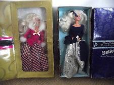 2 MATTEL BARBIES AVON EXCLUSIVE BARBIE DOLLS WITH BOXES