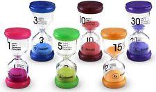 Timer 6 Colors Sand Hourglass 1Min/3Mins/5Mins/10Mins/1 5Mins /30Mins 6 Pack New