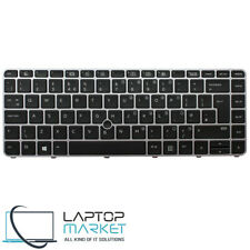 New Backlit UK Keyboard For HP Elitebook 745 G3 G4 840 G3 G4 Series With Frame