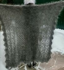 Orenburg Downy Shawl Knitted Shawl Made of Goat Down HandMade Size 155 x 155cm