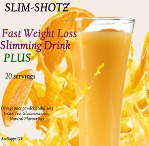 FAST SLIMMING ORANGE SLIM-SHOTS DIET JUICE DRINK PLUS WEIGHT LOSS FAT BURNER