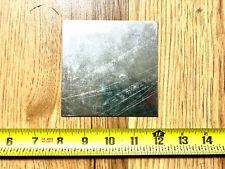 18 gauge Galvanized steel sheet metal scrap 8 pieces 4'' x 4''