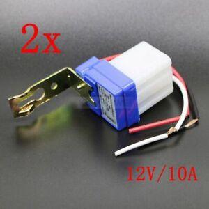 2x Mini Dämmerungssensor Dämmerungsschalter Lichtsensor twilight switch 12V 10A