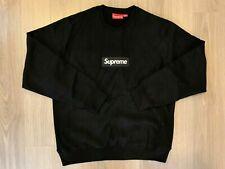 Supreme Box Logo Crewneck Sweater Black sz L large
