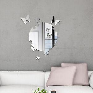 Walplus Butterfly Mirror Wall Sticker Wall Art Decals Room Home Decorations