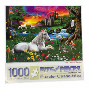 Bits and Pieces THE LAND OF FANTASY 1000-pc Unicorn Jigsaw Puzzle 20 x 27