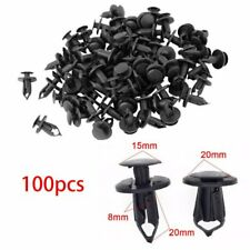 100X 8mm Black Hole Plastic Rivets Fastener Push Clips for Car Auto Fender USA