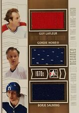 Guy Lafleur/Gordie Howe/Borje Salming ITG Decades 70's Triple Jersey Silver