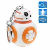Cute Light Up LED Star Wars BB-8 With Sound Flashlight Torch Keychain Key Ring