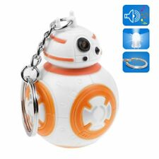 Star Wars BB-8 Light Up LED Flashlight Keyring KeyChain Toys Torch With Sound