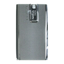 Genuine Batteria originale porta copertura posteriore per Nokia e66-Grigio-Argento