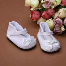 "New Reborn Baby Dolls Shoes White with Bow Fits 18"" Doll Clothes"