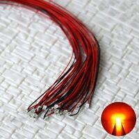 S1151 - 10 Stück SMD Blink LEDs 0805 orange blinkend mit Kabel Microlitze