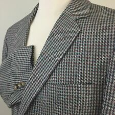 Vintage Colorful Silk Tweed 2 Button Partially Lined Sport Coat USA EUC Mens 41R