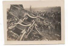 1920s Photo of Train Wreck & People at Walnut Ridge Arkansas
