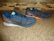 Mens Sz 8.5/42 Nike Lunarglide 7 Blue/Orange Athletic Shoes