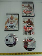 Lot of 2 PlayStation 2 PS2 Video Games NBA Live 2004 2K6 Basketball EA Sports CS