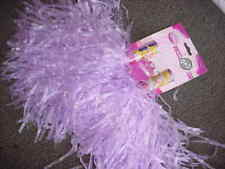 "Set 2 - 12"" Lavender/ Purple Princess Cheerleader Pom Pons Poms Costume O O"