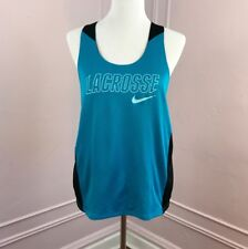 Nike Reversible Lacrosse Athletic Tank Sport Mesh Top Blue Black Large NWT