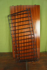 60er Bookcase Vintage String Shelf Mahogany Wall Shelf Danish Shelf System 5