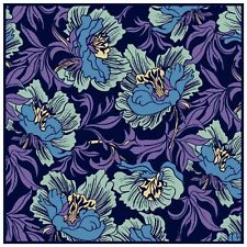 Acanthus Vines Purple Blue Blossoms William Morris Counted Cross Stitch Pattern