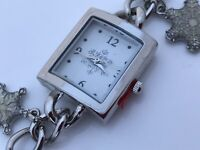 Mixit Christmas Ladies Watch Holidays Analog Charms Silver Tone Wrist Watch